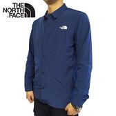 【The North Face 男 防潑水長袖襯衫《海軍藍》】4NCQ/彈性透氣休閒上衣/薄長袖襯衫/防曬襯衫