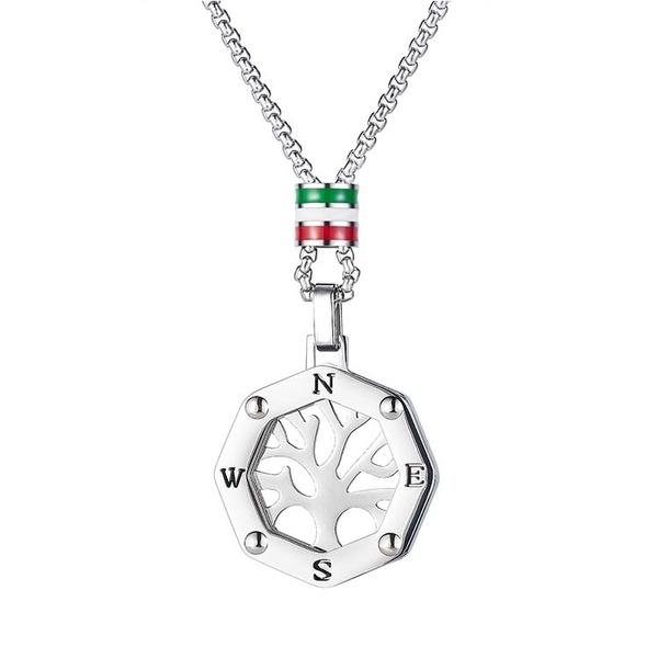 【5折超值價】鈦鋼項鍊生命之樹簍空時尚造型項鍊