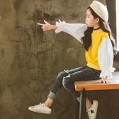 現貨 女童衛衣春秋2018新款韓版洋氣中大兒童秋季百搭寬鬆長袖上衣圓領  8歲以上