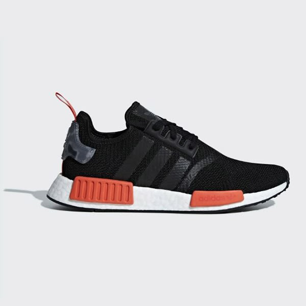 【現貨折後3680】 adidas  NMD_R1 男鞋 慢跑 休閒 BOOST 襪套 限量 黑 橘  AQ0882