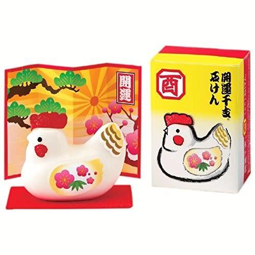 日本獅王LION 開運干支 12生肖造型皂-酉雞