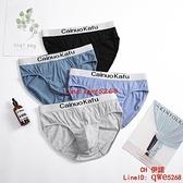 男士純棉褲頭銀邊中腰包頭大碼寬松短褲頭底褲青年個性潮【CH伊諾】