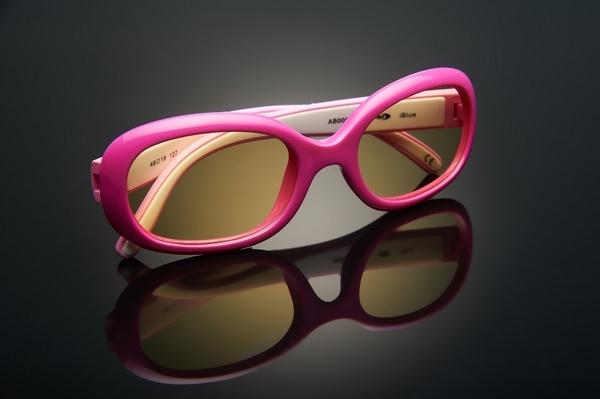 《FUTIS》AHT 兒童抗藍光眼鏡 防藍光 濾藍光 3C護目鏡 抗UV 防止眼睛疲勞 AB0006_C1 亮緋紅