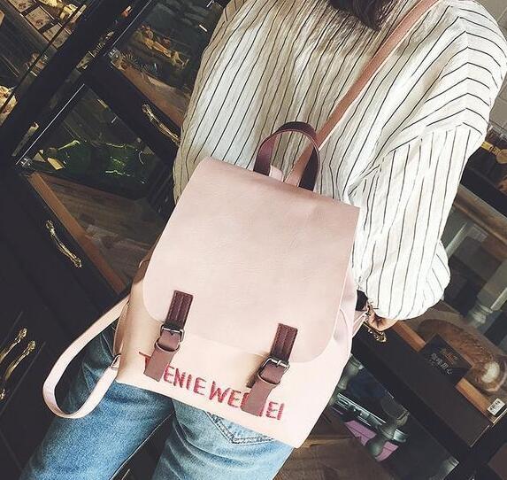 韓式雙肩包女校園小型後背包女生包包皮包森系小清新書包小包少女 向日葵