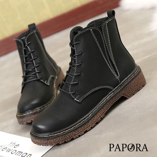 街頭風耐走短靴【KY7746】黑/棕(零碼)