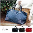 旅行袋-壓印皮標帆布旅行袋-共3色-A1...