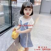 女童牛仔連身裙女小童衣服兒童裝公主裙子【齊心88】