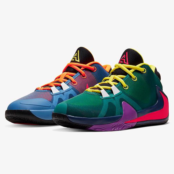 Nike Freak 1 1/2 GS 女鞋 大童 籃球 字母哥 希臘怪物 鴛鴦 陰陽 藍 綠【運動世界】CU1486-800