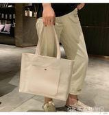 大包包女潮手提包簡約果凍包透明側背包大容量托特包 水晶鞋坊