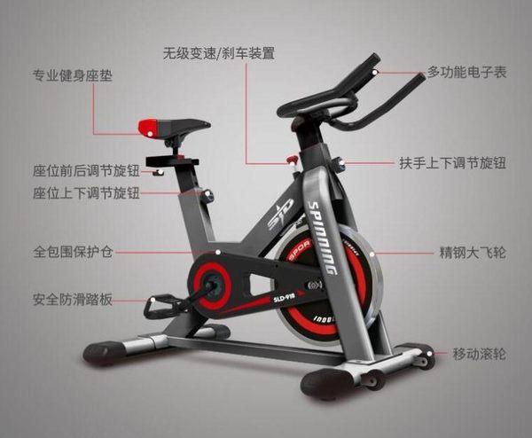動感單車靜音健身車家用腳踏車室內運動自行車健身器材器CY 【Pink Q】