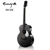 Enya EM-X3E嚴選AJ筒碳纖維36吋缺角旅行電木吉他-具備DOUBLE S3拾音器/含原廠琴包