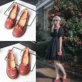 日系森女圓頭小皮鞋文藝復古小清新娃娃鞋