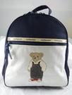 【震撼精品百貨】日本綜合熊_mothercare~後背包『藍白-吊帶熊』