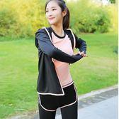 瑜伽服 運動女寬松假兩件跑步短褲健身房大碼瑜五件套胖mm GB1009『愛尚生活館』