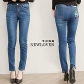 中大尺碼-直筒褲NEW LOVER牛仔時尚【161-6025】簡約時尚中腰直筒褲-S-2L