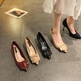 高跟鞋女百搭韓版細跟女鞋 2020新款春季淺口尖頭仙女網紅時尚單鞋 中秋降價