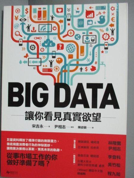 【書寶二手書T7/行銷_JCR】BIG DATA:讓你看見真實欲望_ 宋吉永