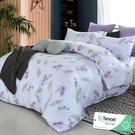 雙人 152x188cm 頂級100%天絲 40s400針紗 床包四件組(兩用被套)-夜雨柔情 【金大器】