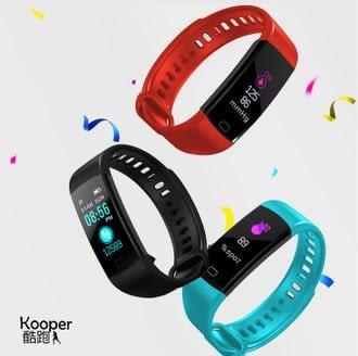 KOOPER 酷跑~ 運動手環(比小米手環更超值.ip68防水.可看訊息)