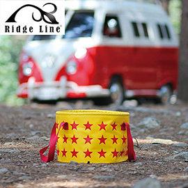 丹大戶外【Ridge Line】韓國 星星手提摺疊水桶 防水性強/戶外活動