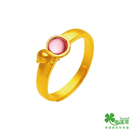 幸運草金飾 福祿乾坤黃金戒指