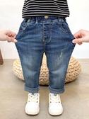 男童牛仔褲男童褲子秋款潮寶寶秋裝牛仔褲彈力洋氣兒童春秋男孩休閒小童長褲 嬡孕哺