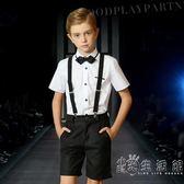 男童六一演出服吊帶褲套裝男生鋼琴表演服花童禮服男小學生校服夏