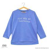 【INI】休閒穿著、柔色優雅好迷人上衣.水藍色