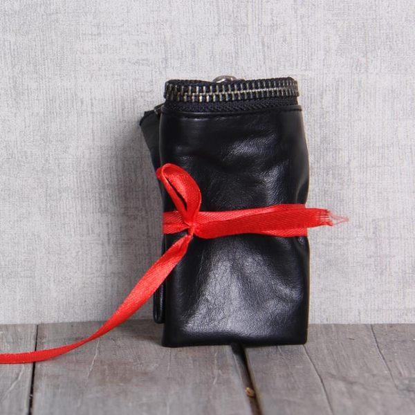 手工真皮錢包頭層牛皮錢夾簡潔大方原創設計男女情侶款Mandyc