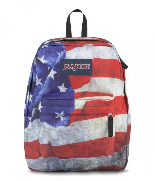 JANSPORT 經典校園背包 基本款-美國隊長-43117