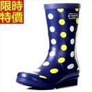 中筒雨靴雨鞋-時尚可愛點點歐美女靴子鞋子66ak3【時尚巴黎】