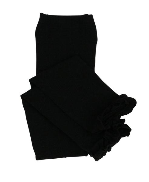 荷葉邊內搭褲【美國 RuffleButts】-黑色款 RLKBKXX-0000