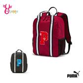 PUMA 後背包 運動背包 兒童書包 開學上課 學生背包 筆電包 A0523 A0524 黑色 紅色◆OSOME奧森