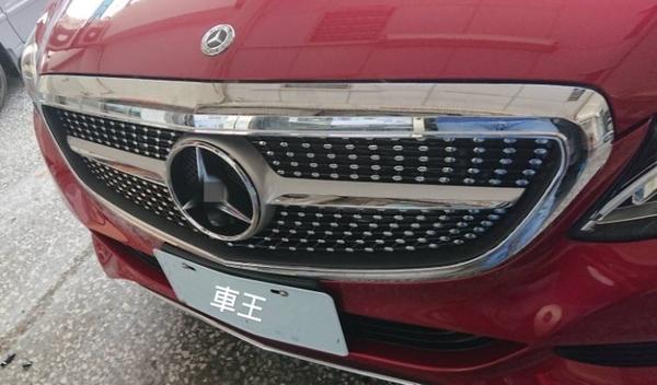 【車王汽車精品百貨】賓士 奔馳 W205 C200 C250 C300 滿天星 運動款 中網框 水箱護罩 競技款 水箱罩