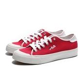 FILA 休閒鞋 紅白 基本 帆布鞋 女 (布魯克林) 5C910S221