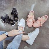 小白鞋女厚底帆布鞋學生女鞋鞋 學生鞋 年尾牙提前購