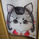 可愛貓咪 棉麻門簾 窗簾 風水簾 玄關G...