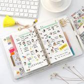 筆記本 貓記A6活頁手賬本套裝創意小清新少女心手帳本筆記本韓國日程本 珍妮寶貝