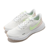 Nike 慢跑鞋 Wmns Revolution 5 白 黃 女鞋 運動鞋 【ACS】 BQ3207-105