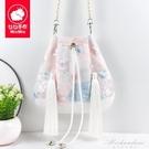 原創森系古風漢服斜背手提包包中國民族風配古裝小仙女帆布荷包袋 黛尼時尚精品