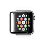 蘋果手錶Apple Watch 3D曲面鋼化玻璃保護膜保護貼-黑色38mm