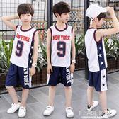童裝男童無袖背心套裝兒童夏裝2018新款夏季男孩運動兩件套韓版潮-Ifashion