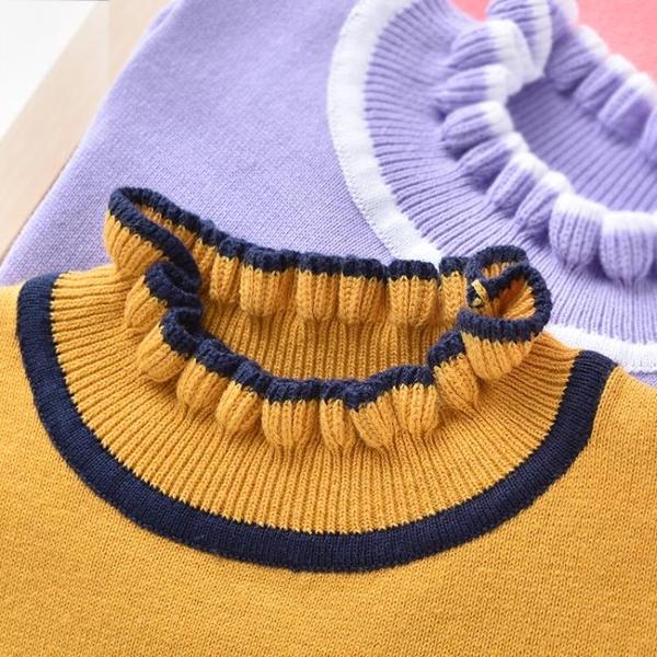 班吉鹿女童套頭毛衣小公主秋冬季新款兒童寶寶毛線衣打底針織衫 蘿莉小腳丫