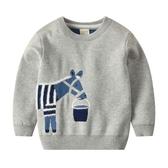 寶寶卡通毛衣2019秋裝新款雙層加厚童裝兒童套頭針織衫男童線衣潮-ifashion