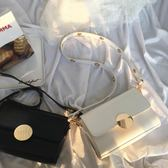 小方包 韓版新款金屬扣手提小方包 時尚簡約單肩斜跨包百搭小包包女 唯伊時尚