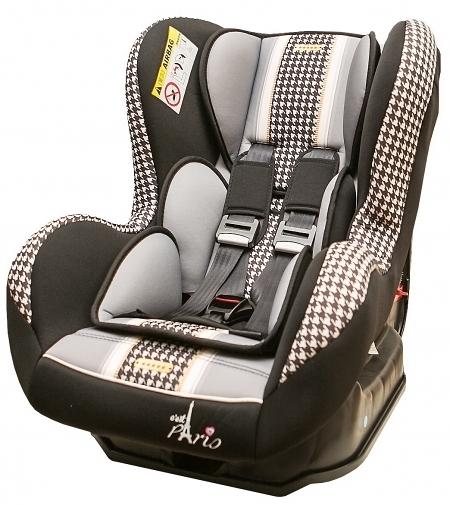 [ 家事達 ] FB00387-法國 時尚巴黎  0-4歲安全汽座-千鳥黑  特價
