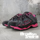 FILA 灰藍桃 透氣 休閒鞋 慢跑鞋 女 (布魯克林) 5X301Q422