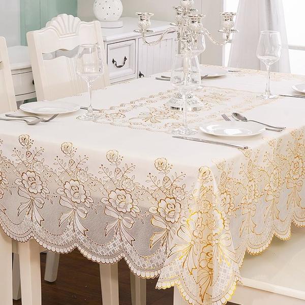 塑料桌布防水防燙防油免洗臺布PVC餐桌墊歐式長方形茶幾網紅桌布 「夢幻小鎮」