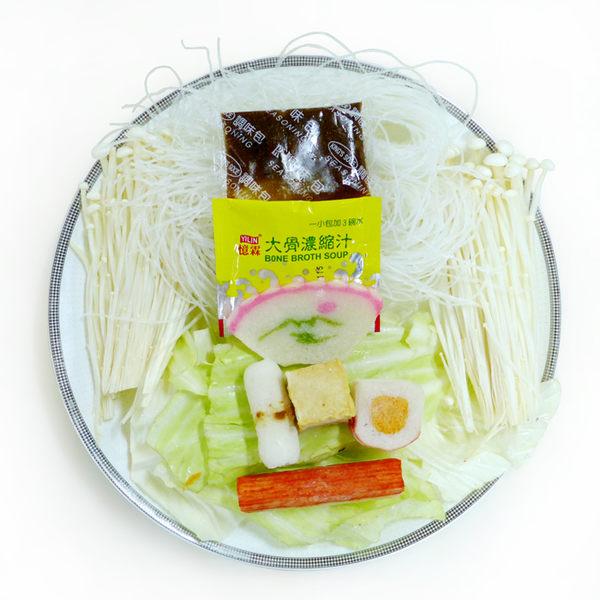 『輕鬆煮』鍋燒冬粉 (約250g/盒)(配料小家庭份量不浪費、廚房快煮即可上桌)
