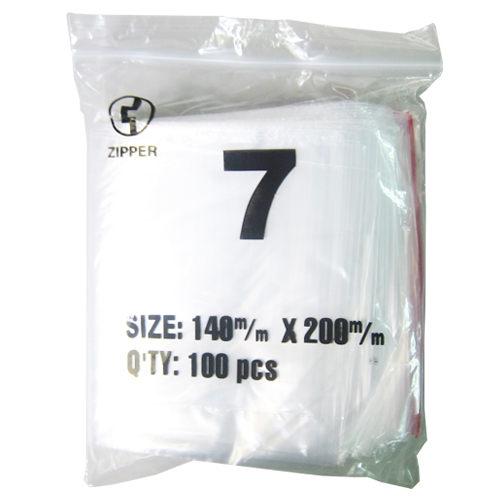 【奇奇文具】由任袋 7號/夾鍊袋 NO.7 20×14cm (100入/包)